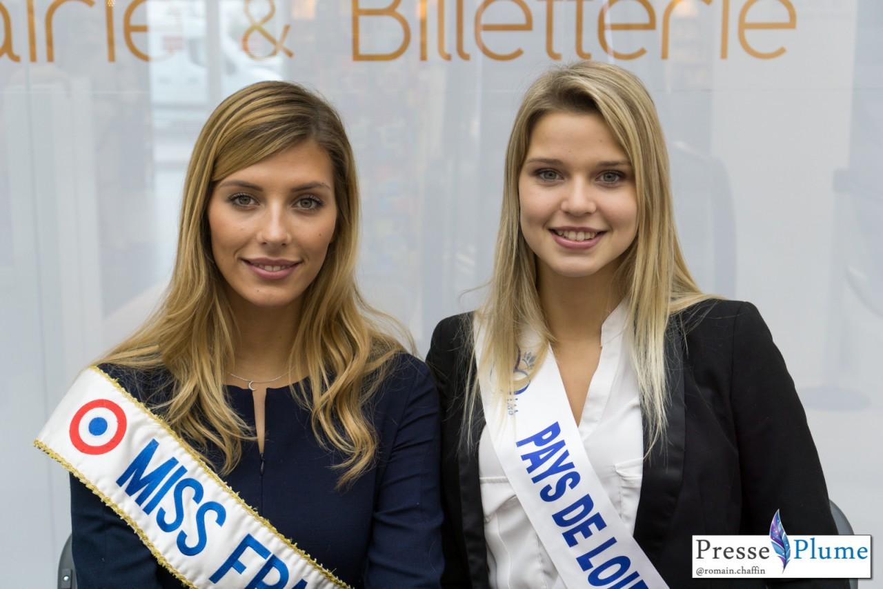 Camille CERF, Miss FRANCE 2015 et Angélina LAURENT, Miss Pays de Loire 2015.