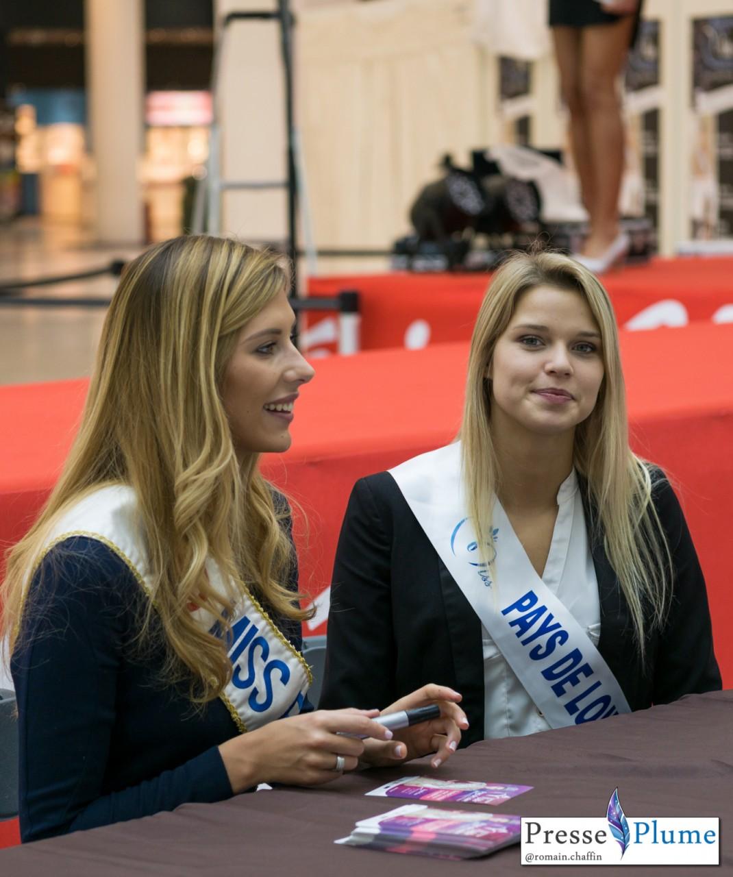 Angélina LAURENT, Miss Pays de Loire 2015 en compagnie de Miss France 2015, Camille CERF